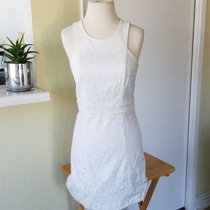 Rebecca Taylor White Lace Sleeveless Midi Dress